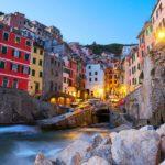 Riomaggiore at twilight, Cinque Terre, Italy