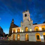 The Cabildo museum at twilight, Buenos Aires