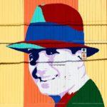Carlos Gardel wall art in Abasto, Buenos Aires