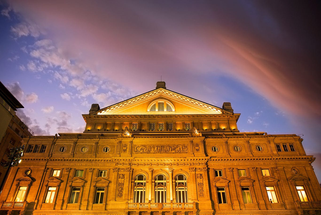 Colon Theatre twilight, Buenos Aires