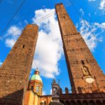 Garisenda and Asinelli towers, Bologna, Italy