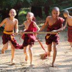Novice monks in Bagan, Burma