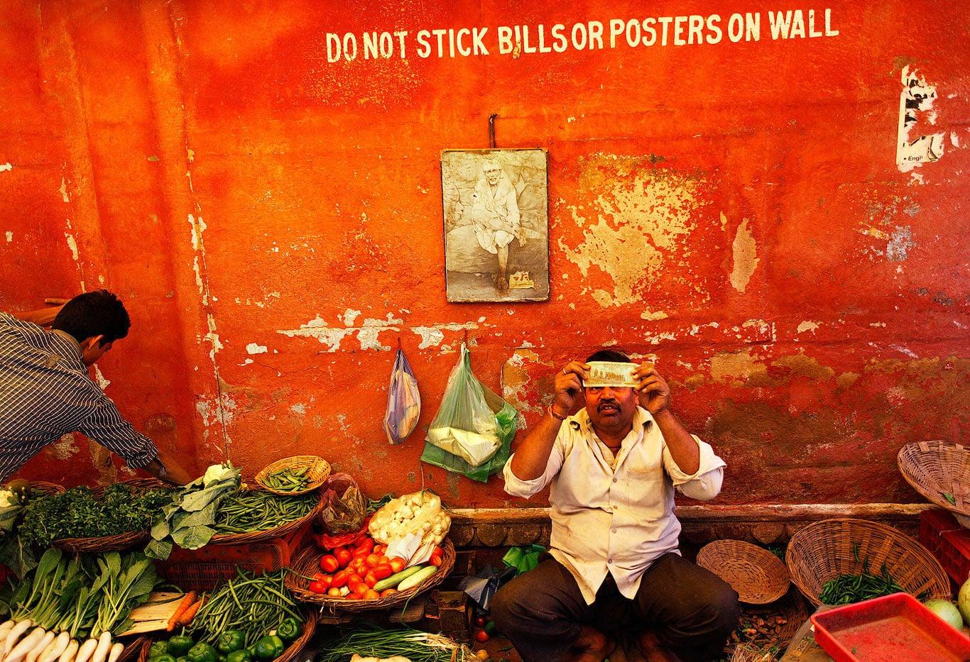 Indian street market, Varanasi, India