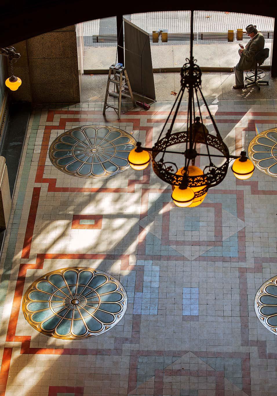Light beam inside Palacio Barolo, Buenos Aires
