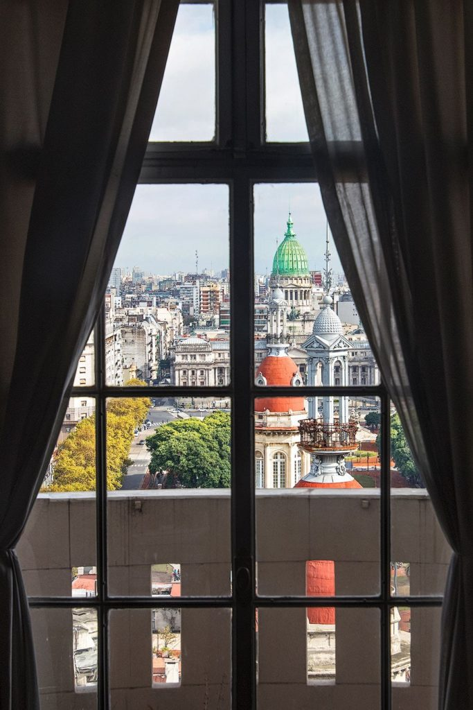 View from a window of Palacio Barolo, Buenos Aires