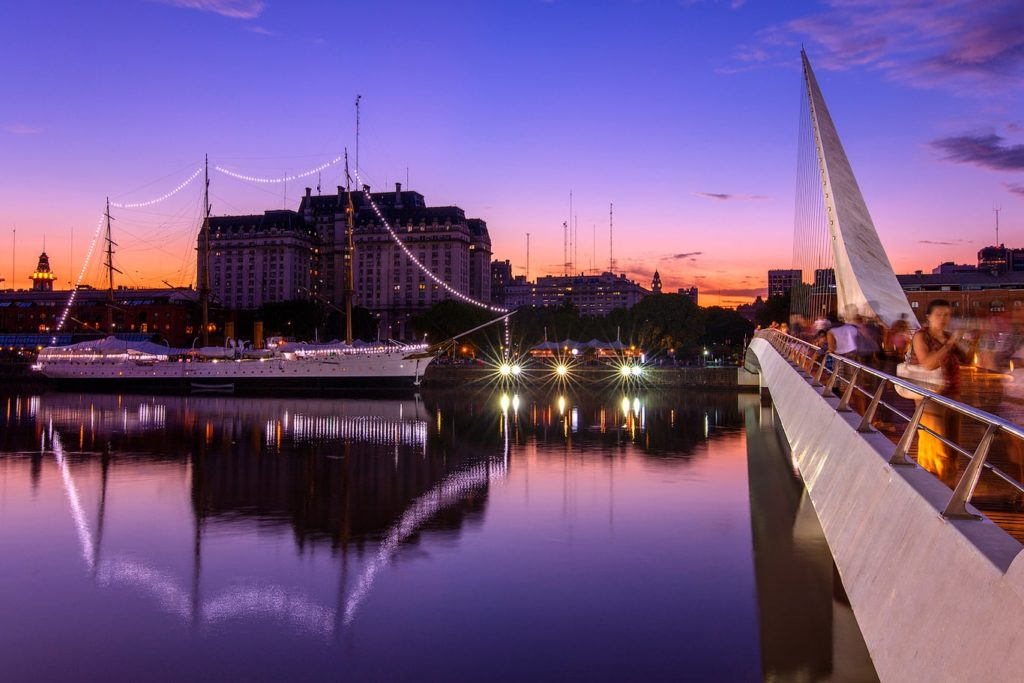 Puerto Madero at twilight, Buenos Aires