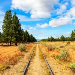 Railway track in El Maiten, Argentina