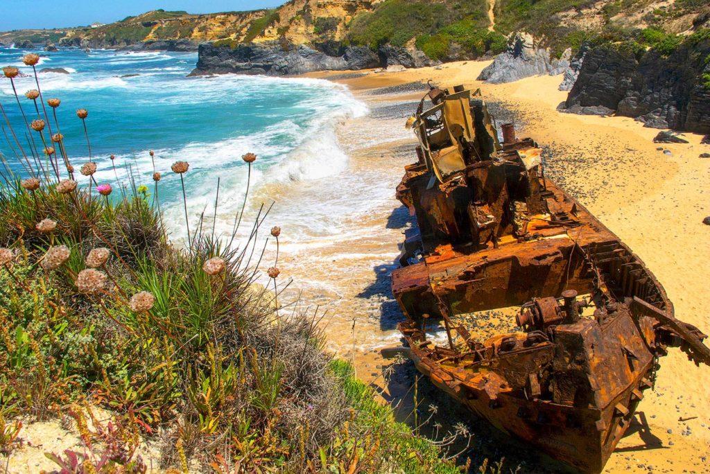 Shipwreck in Odemira, Portugal