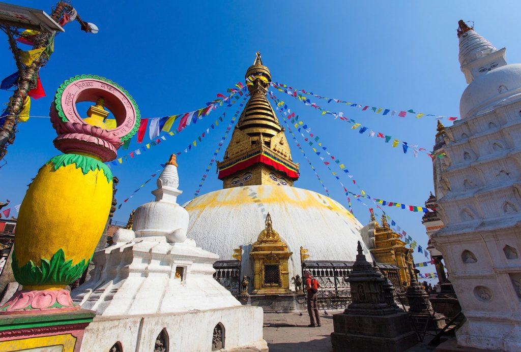 The Swayambhunath temple in Kathmandu, Nepal