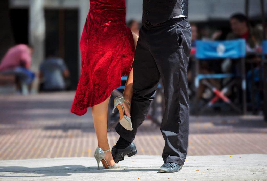 Tango dancers in Plaza Dorrego, Buenos Aires