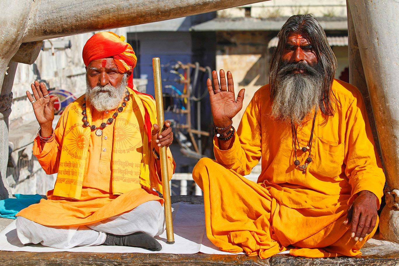 Two Sadhu in Udaipur, India