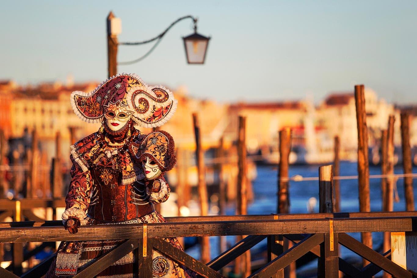 Venetian carnival mask in Venice, Italy