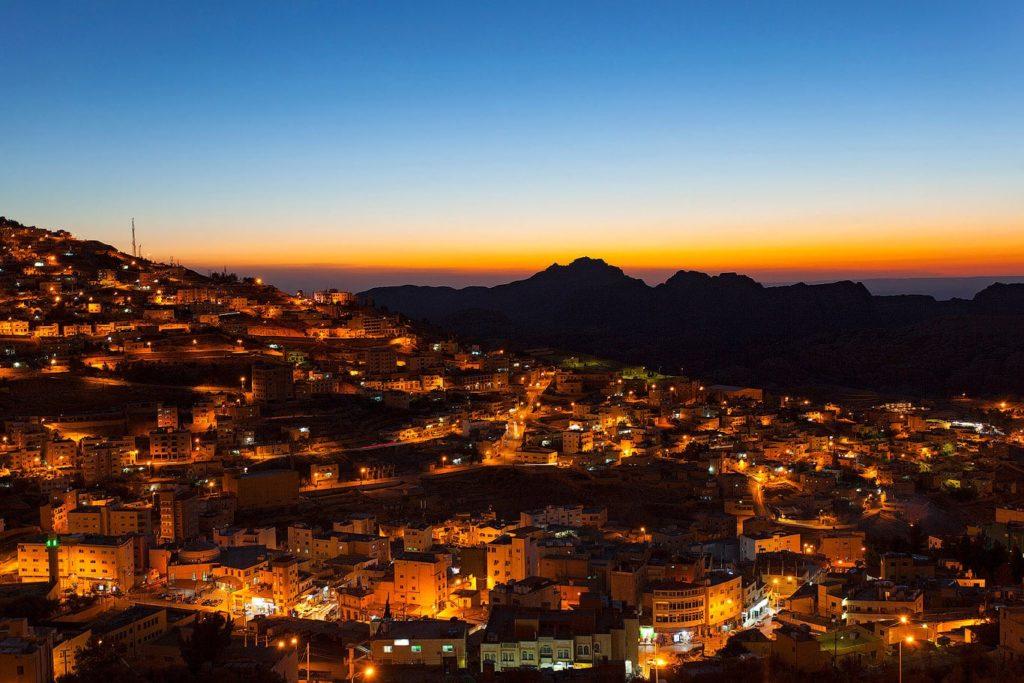 Wadi Musa at sunset, Jordan
