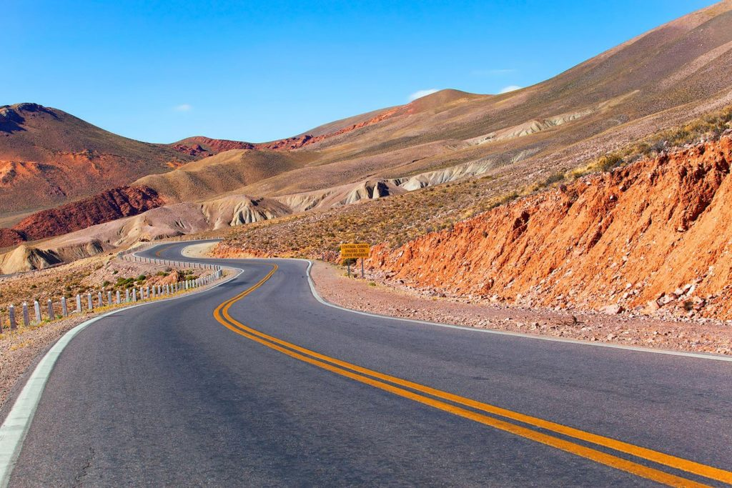 Wavy road on the Andes, Jujuy, Argentina
