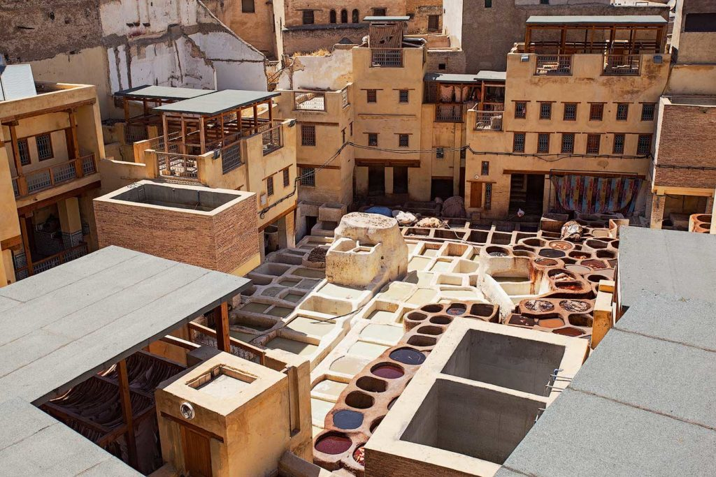 Small tannery in Fez