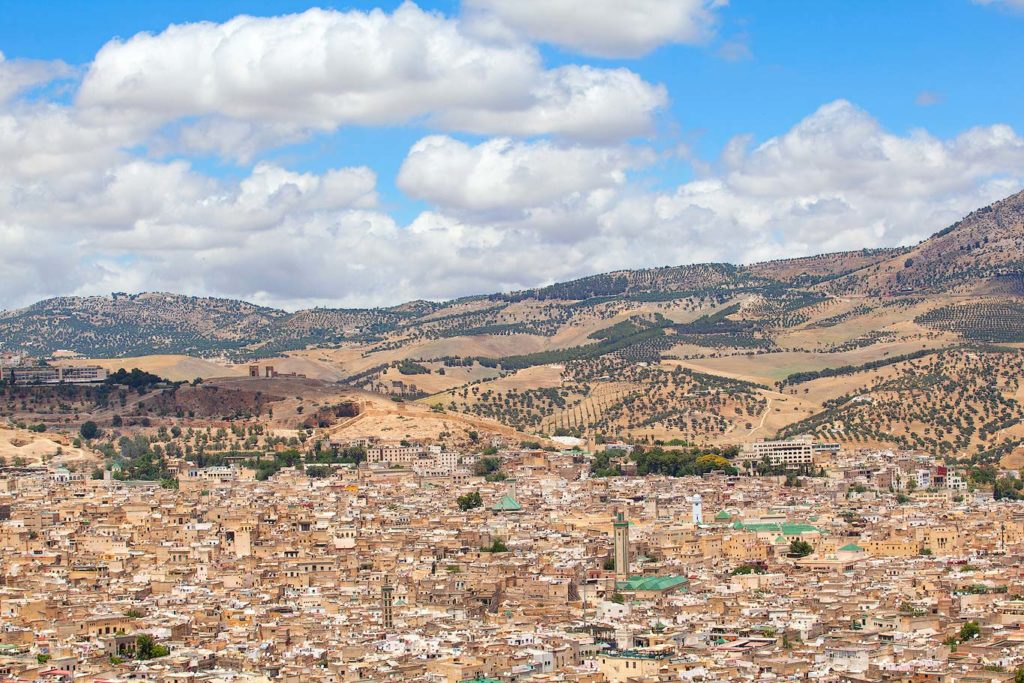 Mount Zalagh view of Fes