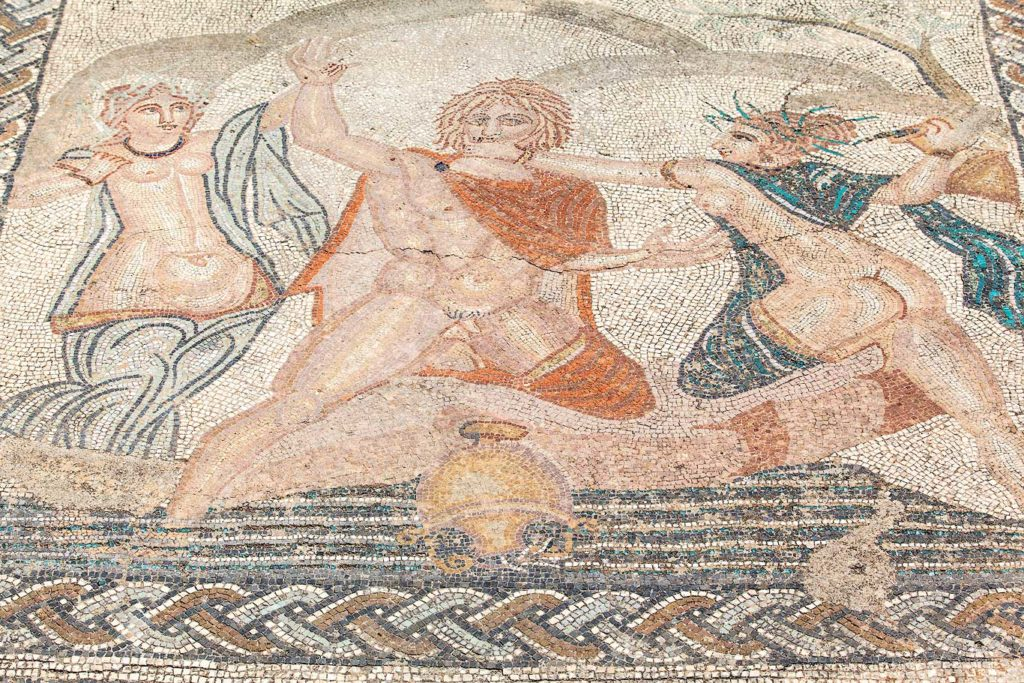 Mosaic in Volubilis, Morocco