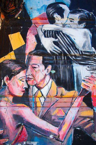 Tango street art nella Boca di Buenos Aires