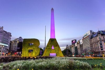 The Buenos Aires Obelisk at sunrise