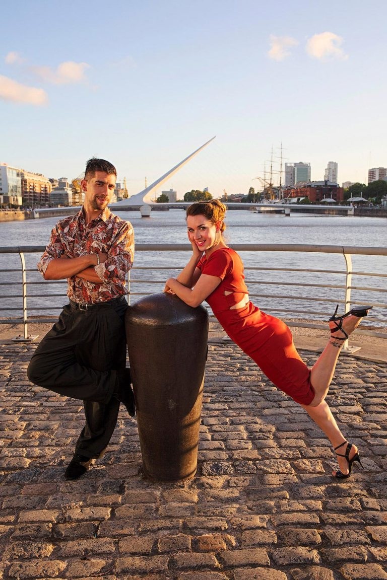 Photo shoot in Puerto Madero, Buenos Aires