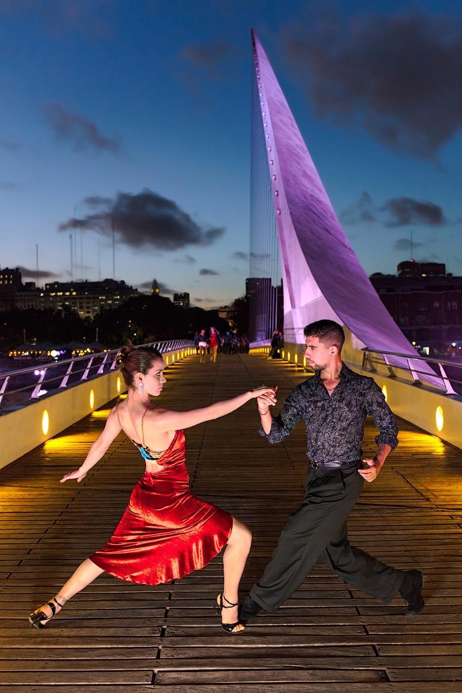 Puente de la Mujer photo shoot, Puerto Madero, Buenos Aires