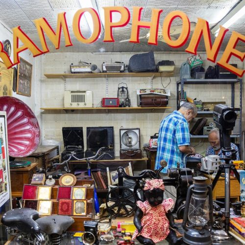vintage music shop