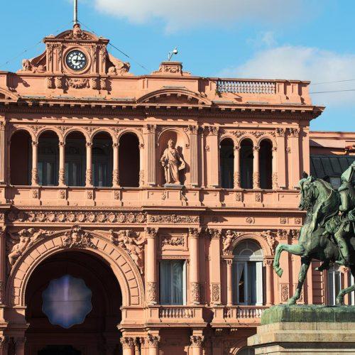 The main facade of the Casa Rosada, Buenos Aires