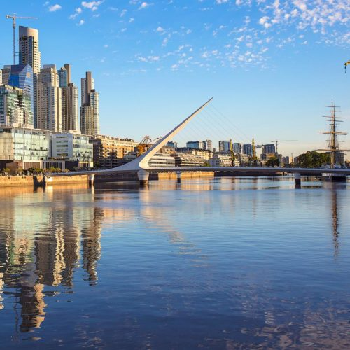 Panoramic view of Puerto Madero, Buenos Aires