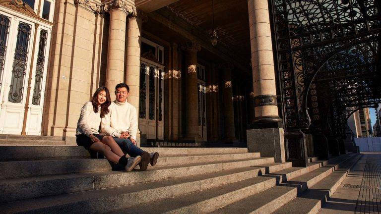 Photo shoot with a couple in Buenos Aires, Argentina.