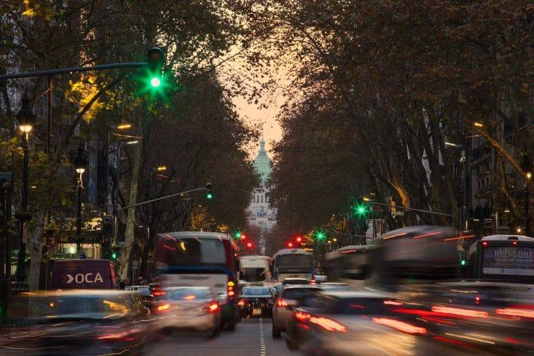 Strada verso il Congresso Nazionale Argentino