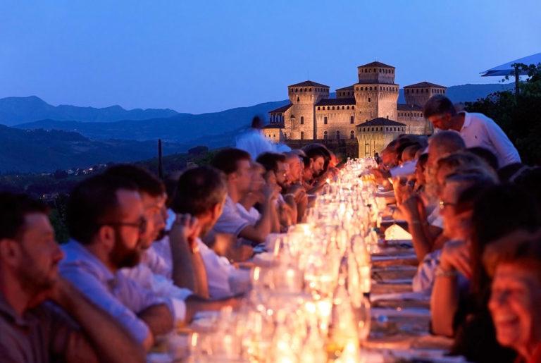 dinner Torrechiara castle