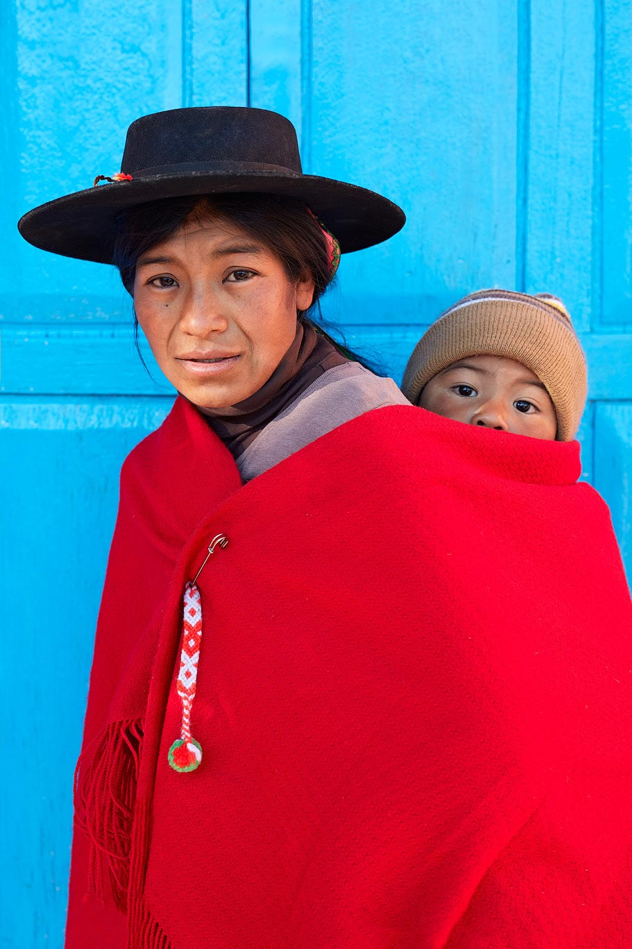 Mother with her child, Northern Argentina.